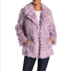 AVEC LES FILLES Notch Collar Curly Jacket XL